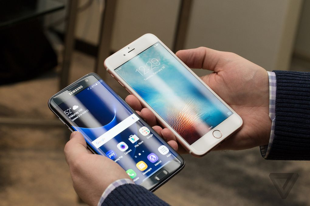 Samsung Galaxy S7 edge и iPhone 6s Plus