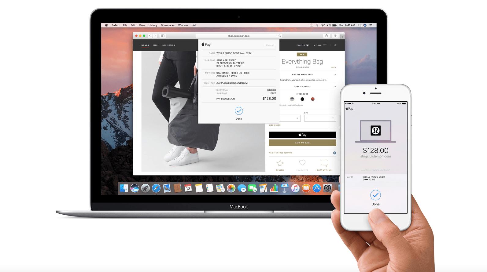 Apple Pay в Safari