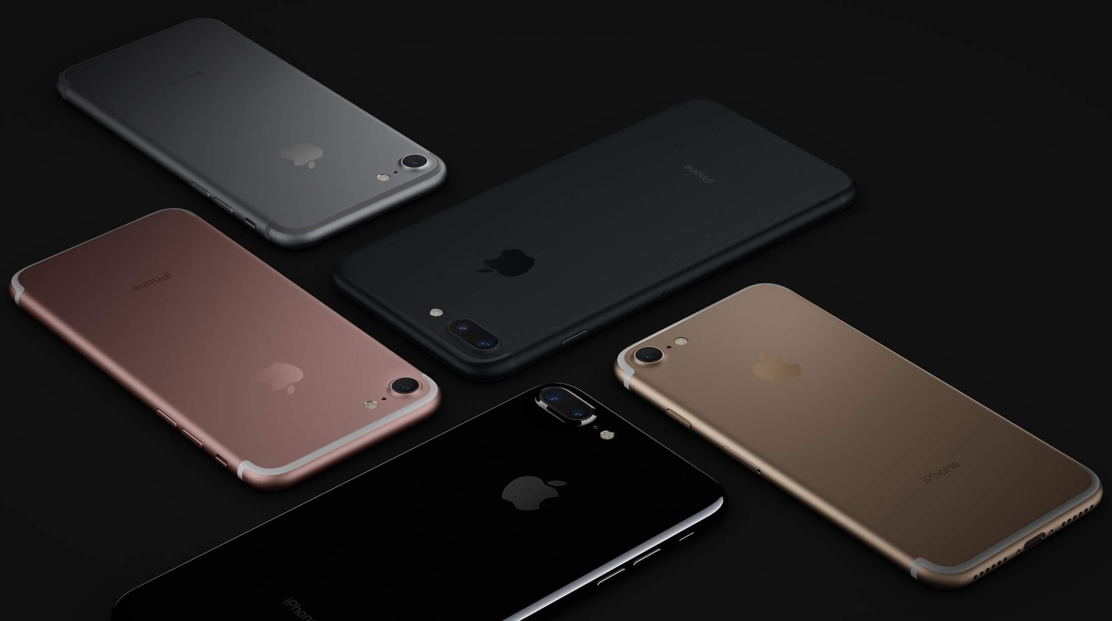 iPhone 7 и iPhone 7 Plus в 5 цветах